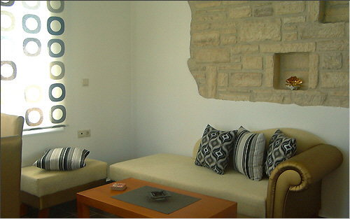Wall decoration above the sofa