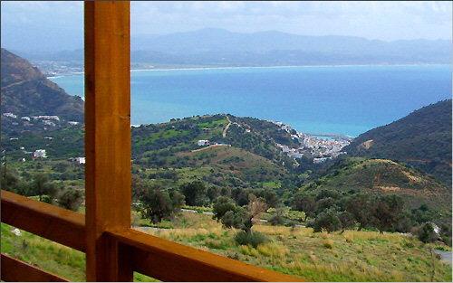 View of the Messara Bay from the veranda