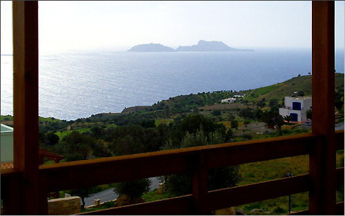 View of the Paximadia Islands from the veranda