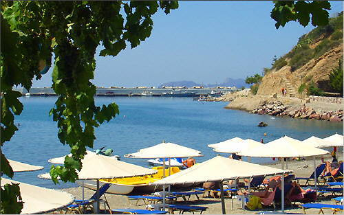 Agia Galini: On the beach